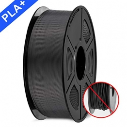 3D Printer Filament, PLA plus Filament 1.75mm, 3D Printer Filament PLA+, 1KG Black - 1