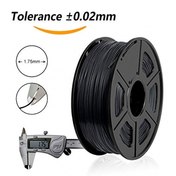 3D Printer Filament PLA+,PLA+ Filament 1.75 mm SUNLU,Low Odor Dimensional Accuracy +/- 0.02 mm 3D Printing Filament,2.2 LBS (1KG) Spool 3D Printer Filament for 3D Printers & 3D Pens,Black - 3