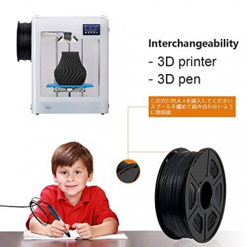 3D Printer Filament PLA+,PLA+ Filament 1.75 mm SUNLU,Low Odor Dimensional Accuracy +/- 0.02 mm 3D Printing Filament,2.2 LBS (1KG) Spool 3D Printer Filament for 3D Printers & 3D Pens,Black - 4