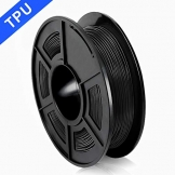 3D Printer Filament TPU,TPU Filament 1.75 mm SUNLU,Low Odor Dimensional Accuracy +/- 0.02 mm 3D Printing Filament,1.1LBS (0.5KG) Spool,Black TPU - 1