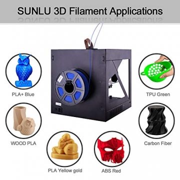 3D Printer Filament TPU,TPU Filament 1.75 mm SUNLU,Low Odor Dimensional Accuracy +/- 0.02 mm 3D Printing Filament,1.1LBS (0.5KG) Spool,Black TPU - 8