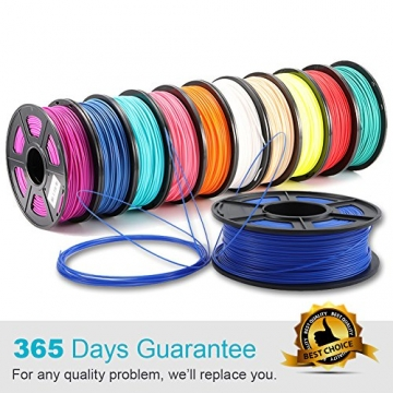 3D Warhorse 3D Filament, ABS 3D Printer Filament 1.75mm, 1KG Spool(2.2lbs),3D Printing Filament Dimensional Accuracy +/- 0.02mm-Bonus with 5M PCL Nozzle Cleaning Filament(White) - 6