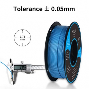Filament PLA 1.75mm, Eryone PLA Filament 1.75mm, 3D Drucken Filament PLA for 3D Drucker, 1kg 1 Spool, Blau - 4