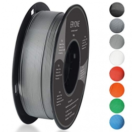 Filament PLA 1.75mm, Eryone PLA Filament 1.75mm, 3D Drucken Filament PLA for 3D Drucker, 1kg 1 Spool, Grau - 1