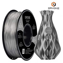 Filament PLA 1.75mm Sparky Silver, ERYONE PLA Filament For 3D Printer and 3D Pen, 1KG, 1 Spool - 1