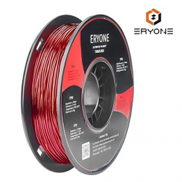 Filament TPU 1.75mm, Eryone TPU Filament 1.75mm, 3D Drucken Filament TPU for 3D Drucker, 0,5 kg 1 Spool, Transparent Rot - 1