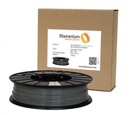 Fillamentum 3D Filament - PLA, 750g / 1.75mm - Grau (Concrete Grey), Druck Temperatur 190-210°C - 1
