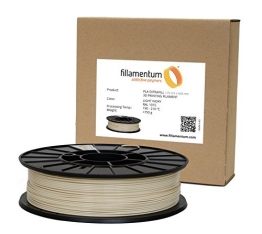 Fillamentum 3D Filament - PLA, 750g / 1.75mm - Hell Elfenbein (Light Ivory), Druck Temperatur 190-210°C - 1