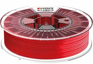 Formfutura 175HDGLA-STRED-0750 3D Printer Filament, PETG, See Through Rot - 1