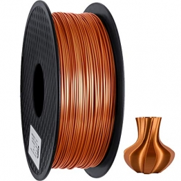 GEEETECH PLA filament 1.75mm Silk Copper, 3D Drucker Filament PLA 1kg Spool - 1