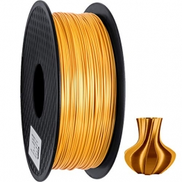 GEEETECH PLA filament 1.75mm Silk Gold, 3D Drucker Filament PLA 1kg Spool - 1
