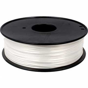 GEEETECH PLA filament 1.75mm Silk Weiß, 3d filament PLA for 3d Drucker 1kg spool - 1