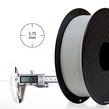 GIANTARM Filament PLA 1.75mm,3D Drucker PLA filament 1kg Spool (Weiß) - 4