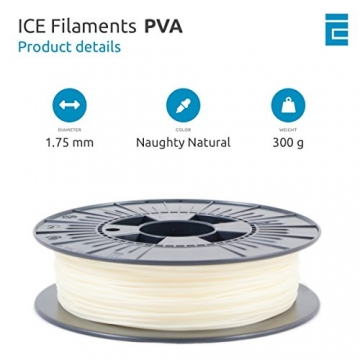 ICE FILAMENTS ICEFIL1PVA157 PVA Filament, 1,75 mm, 0,30 kg, Naughty Natural - 2