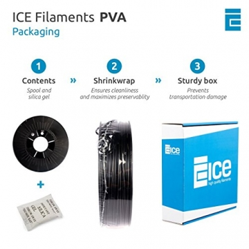 ICE FILAMENTS ICEFIL1PVA157 PVA Filament, 1,75 mm, 0,30 kg, Naughty Natural - 3
