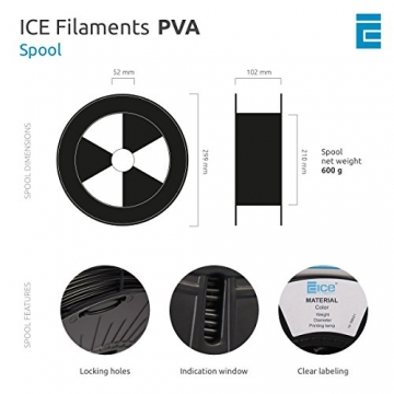 ICE FILAMENTS ICEFIL1PVA157 PVA Filament, 1,75 mm, 0,30 kg, Naughty Natural - 4