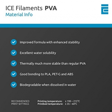 ICE FILAMENTS ICEFIL1PVA157 PVA Filament, 1,75 mm, 0,30 kg, Naughty Natural - 6