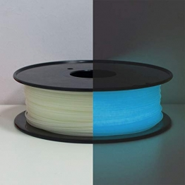 PLA Filament 1.75mm, Glows Blau in the Dark, GEEETECH 3D Drucker Filament 1kg Spool - 1