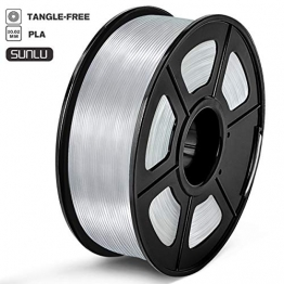 Sunlu 3D Printer Filament PLA 1,75 mm PLA Filament, 3D Printing Filament Low Geruch, Dimensional Accuracy +/- 0.02 mm, 2.2 LBS (1KG) Spool 3D Filament, transparent, 0 - 1