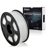 SUNLU 3D Printer Filament PLA+,PLA+ Filament 1.75 mm,Low Odor Dimensional Accuracy +/- 0.02 mm 3D Printing Filament,2.2 LBS (1KG) Spool 3D Printer Filament for 3D Printers & 3D Pens, Transparent White - 1