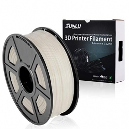 SUNLU ABS Plus 3D Printer Filament, ABS Filament 1.75 mm, 3D Printing filament Low Odor Dimensional Accuracy +/- 0.02 mm, 2.2 LBS (1KG) Spool,White ABS+ - 1