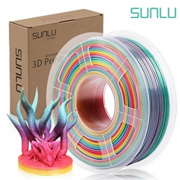 SUNLU Rainbow PLA Filament 1.75mm 3D Printer Rainbow Filament, Multicolor PLA Filament for 3D Printers and 3D Pens,1kg per Spool - 1