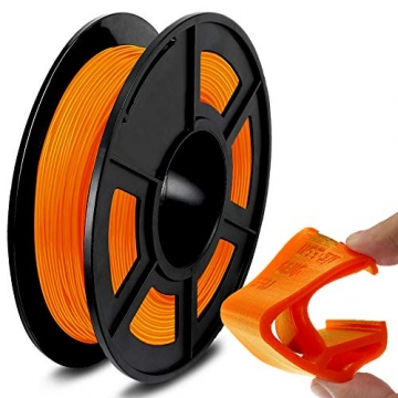 SUNLU TPU Flexible Filament 1.75mm for 3D Printer 500g/Spool Dimensional Accuracy +/-0.03mm, Orange - 1