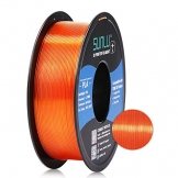 SUNLU Transparent PLA Filament 1.75 mm 3D Printer Filament, 1kg Spool 3D Printing Filament, Dimensional Accuracy +/- 0.02 mm for 3D Printer and 3D Pen (Transparent Orange) - 1